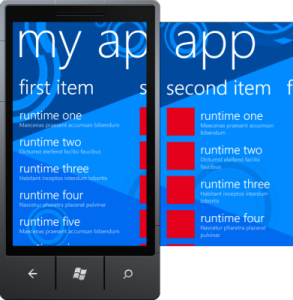 Windows Phone Panorama Application